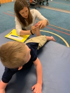 Checking range of motion